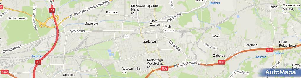 Zdjęcie satelitarne Firma Usługowa Anna Mielnikowicz Anna