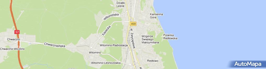 Zdjęcie satelitarne Firma Usługowa Anna Miotk