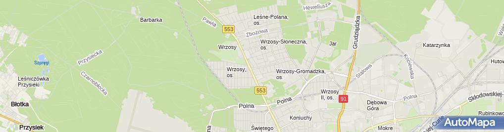 Zdjęcie satelitarne Firma Usługowa Elżbieta Piotrowicz