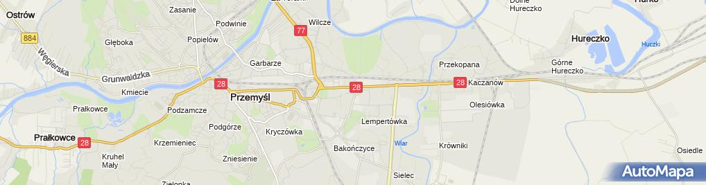 Zdjęcie satelitarne Firma Usługowa Glanc