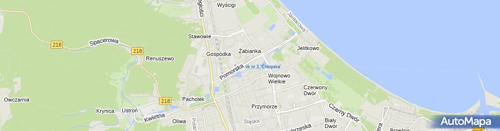 Zdjęcie satelitarne Firma Usługowa Jacek Jędrzejewski