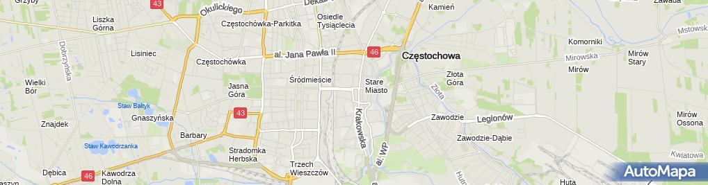 Zdjęcie satelitarne Firma Usługowa Pincerton