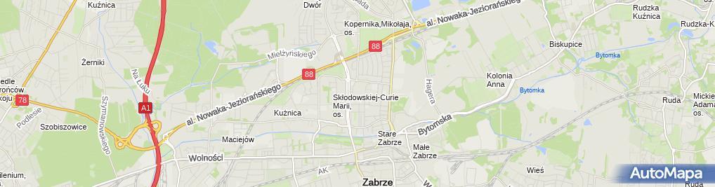 Zdjęcie satelitarne Firma Usługowavioletpressgrażyna Chwałek