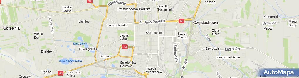 Zdjęcie satelitarne Firma Usługowo Handlowa Anna Jabłoński Jan