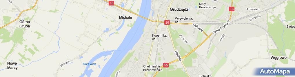 Zdjęcie satelitarne Firma Usługowo Handlowa Arkadiusz Szczęsny