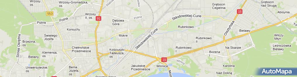Zdjęcie satelitarne Firma Usługowo Handlowa Auto Grala Aleksander Malinowski Wojciech Maciołek Zbigniew Socha Krzysztof