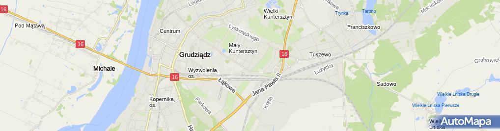 Zdjęcie satelitarne Firma Usługowo - Handlowa Bożena Bożena Pitan