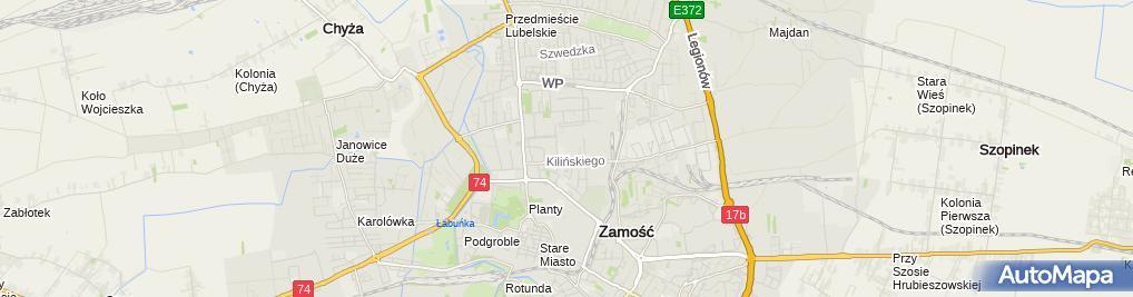 Zdjęcie satelitarne Firma Usługowo Handlowa Kajax
