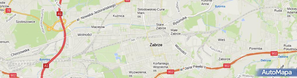 """Zdjęcie satelitarne Firma Usługowo Handlowa """"Marlis"""" Maria-Luiza Malinowsk"""