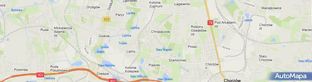 Zdjęcie satelitarne Firma Usługowo Handlowa Midas