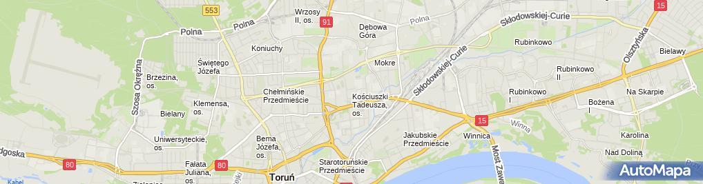 Zdjęcie satelitarne Firma Usługowo Handlowa Mróz Teresa Mróz Robert