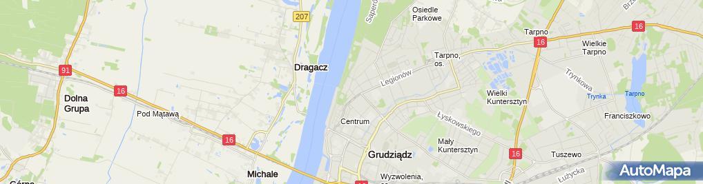 Zdjęcie satelitarne Firma Usługowo Handlowa Partner M Maziarz J Maziarz