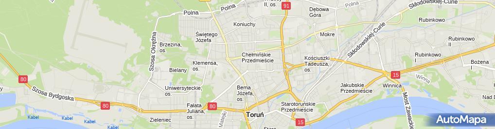 Zdjęcie satelitarne Firma Usługowo Handlowa Paulina