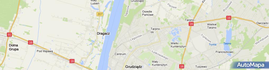Zdjęcie satelitarne Firma Usługowo Handlowa Wiktoria