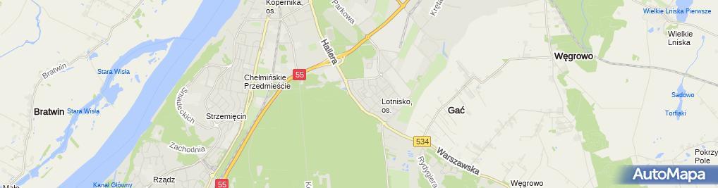 Zdjęcie satelitarne Firma Usługowo Handlowa