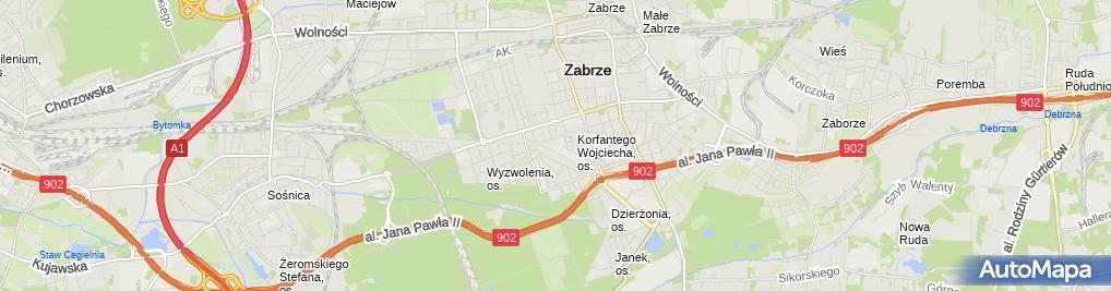 Zdjęcie satelitarne Firma Usługowo Handlowo Budowlana Tess