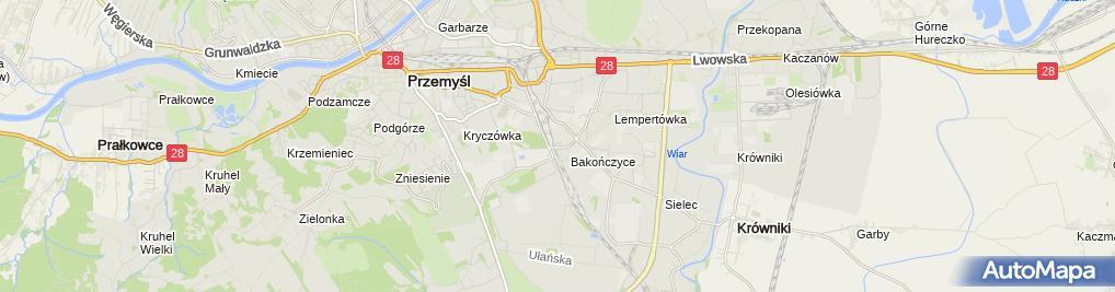 Zdjęcie satelitarne Firma Usługowo Produkcyjno Handlowa Wojtex