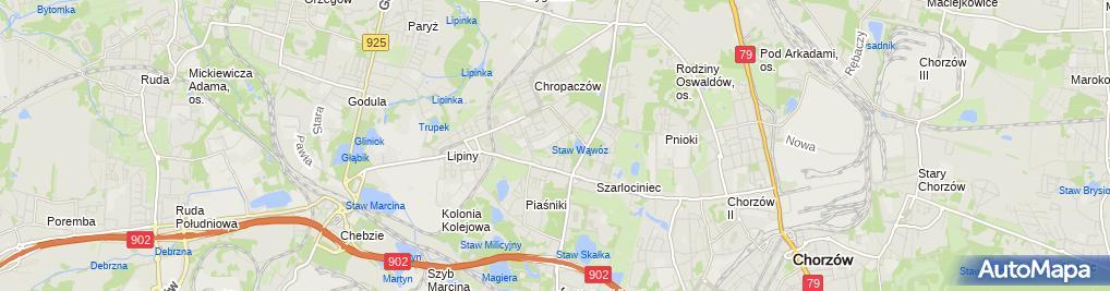 Zdjęcie satelitarne Firma Usługowo-Transportowa Jacek Bąk