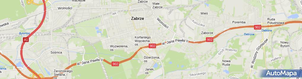 Zdjęcie satelitarne Firma Zegarmistrzowska Roland