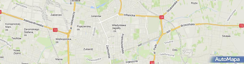 Zdjęcie satelitarne Flo Plast
