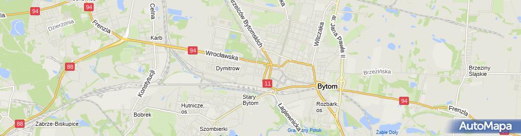 Zdjęcie satelitarne Franciszek Moskal Artykuły Spożywcze i Przemysłowe Moskal Franciszek