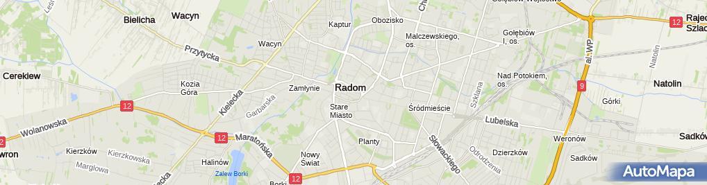 Zdjęcie satelitarne Fundacja Ars Antiqua Radomiensis