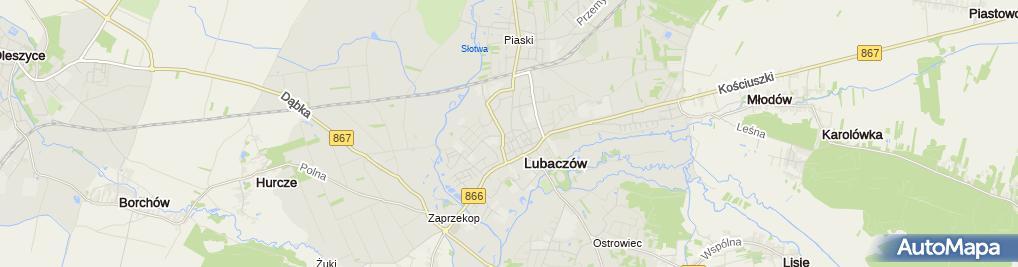 Zdjęcie satelitarne Fundacja im Jana Pawła II w Lubaczowie