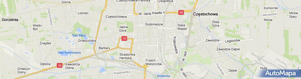 Zdjęcie satelitarne Fundacja Jurajskie Dzieci