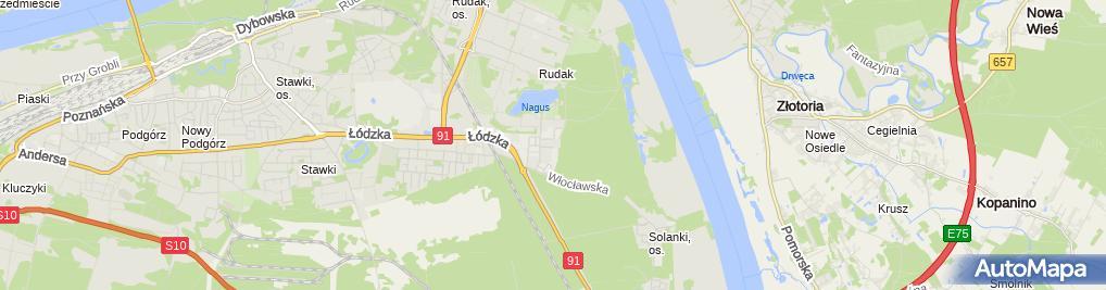 Zdjęcie satelitarne Fundacja Społeczno Charytatywna Pomoc Rodzinie i Ziemi w Toruniu