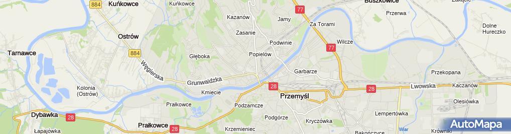 Zdjęcie satelitarne Gabinet Endokrynologiczno Internistyczny Lek Med Bogusław Dawnis