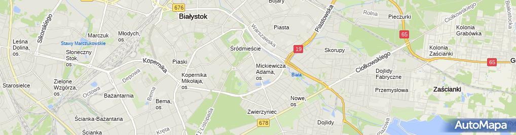 Zdjęcie satelitarne Gabinet Internistyczny Skwarski Lech