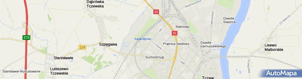 Zdjęcie satelitarne Gabinet Psychologiczny Karolina Kiedrowska