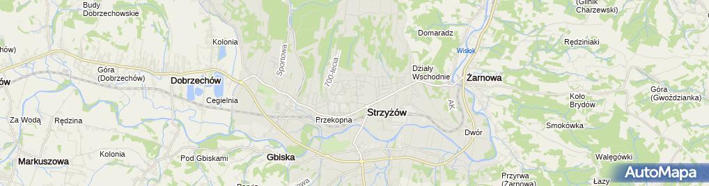 Zdjęcie satelitarne Gabinet Rehabilitacyjny Sanare Daniel Matłosz Tomasz Góra Mariusz Ziobro