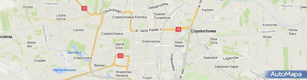 Zdjęcie satelitarne Gabinet RTG Andrzej Zaręba