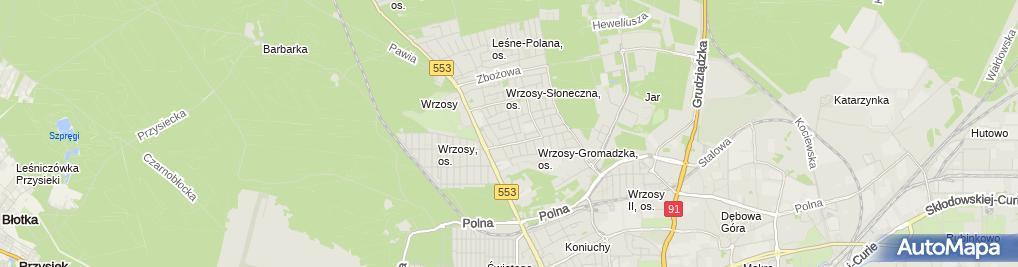 Zdjęcie satelitarne Gabinety Lekarskie