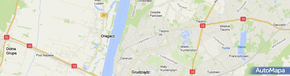 Zdjęcie satelitarne Gabriela Porowska Usługi Opiekuńczo Pielęgnacyjne