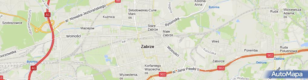 Zdjęcie satelitarne Gabriela Świętoń-Waniczek