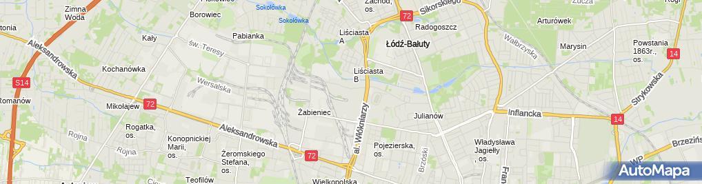 Zdjęcie satelitarne Gaja Kancelaria Ubezpieczeniowa