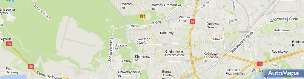 Zdjęcie satelitarne Galeria R Mikulski Piotr Trokowski Kazimierz