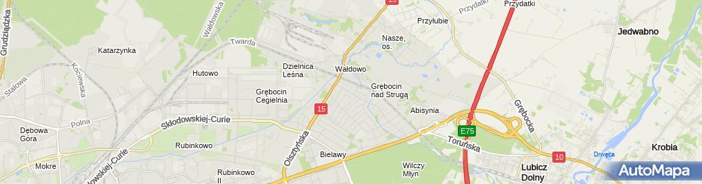 Zdjęcie satelitarne Gama Kolor Łukomska Iwona Łukomski Krzysztof