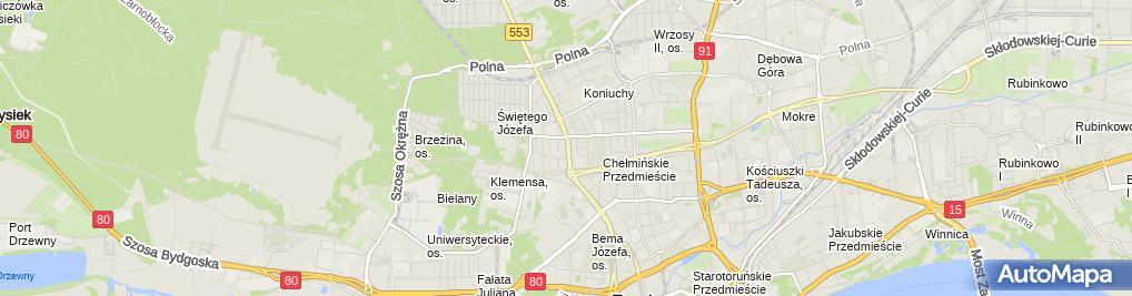 Zdjęcie satelitarne Garden Serwis Moszczyńska Arleta Moszczyński Tomasz