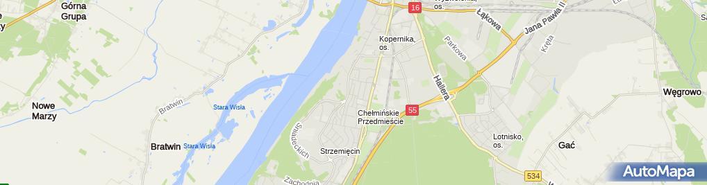 Zdjęcie satelitarne Gastrokom Strzelecka
