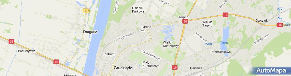 Zdjęcie satelitarne Gastronomia Handel