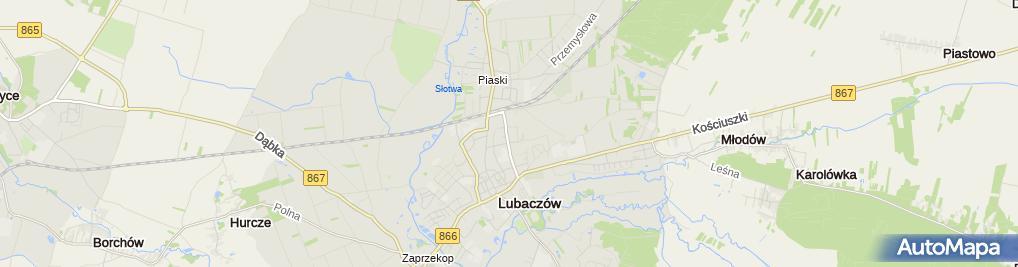 Zdjęcie satelitarne Geodeta Uprawniony Piotr Mazur