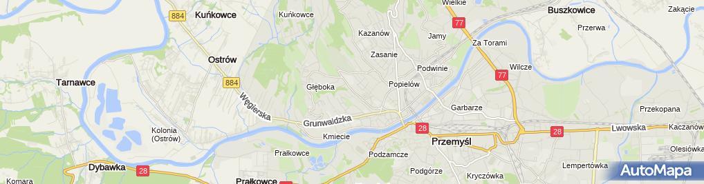 Zdjęcie satelitarne Geodeta Uprawniony Stanisława Siewarga