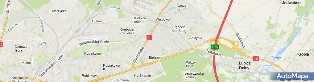Zdjęcie satelitarne Geodezja Wojciech Maruszak
