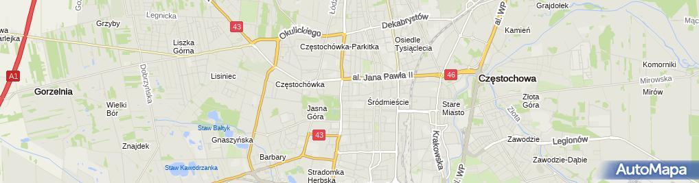Zdjęcie satelitarne Geodos S C Usługi Geodezyjne