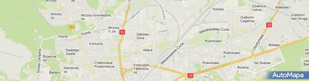 Zdjęcie satelitarne Geofizyka Toruń