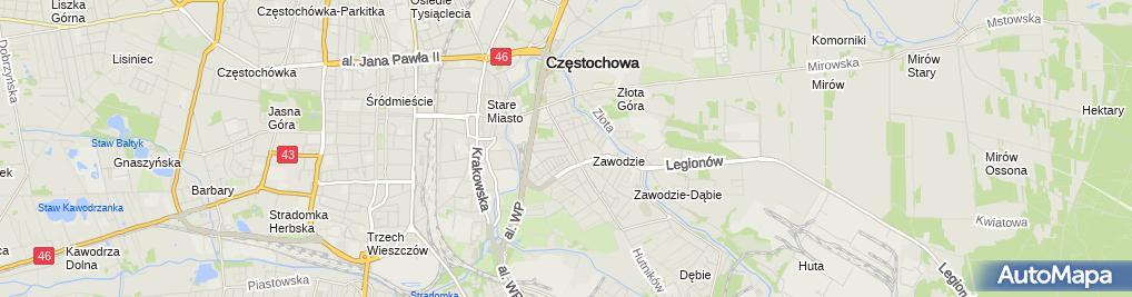 Zdjęcie satelitarne Gęsiarz J.Blach.Sam., CZ-Wa