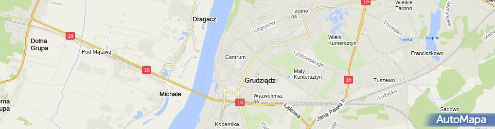 Zdjęcie satelitarne Glinka